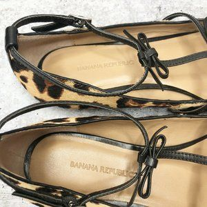 Banana Republic Shoes - Banana Republic Flat Ballet Shoe Leopard Triple